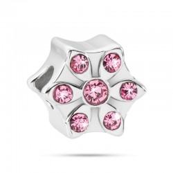 MORELLATO Drops Flower w/ Pink Crystals