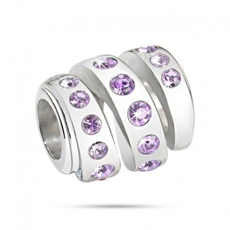 MORELLATO Drops Spiral w/ Purple Crystals