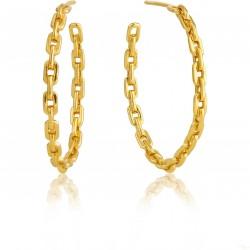 Brincos Ania Haie Chain Prata 925 Dourada