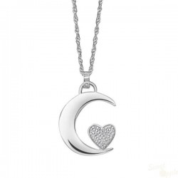 Colar Lotus Silver Moon Heart SCR