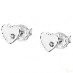 Brincos Lotus Silver Heart SCR
