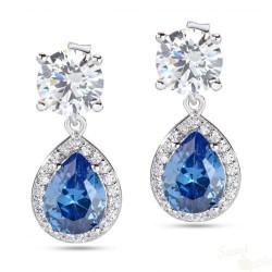 Brincos Morellato Tesori Prata 925 Cristal Azul