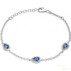 Pulseira Morellato Tesori Prata 925 Cristal Azul