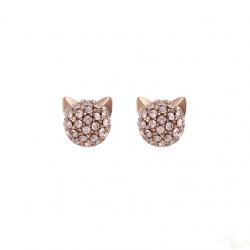 Brincos Karl Lagerfeld Klassic Mini Crystals Ch. RG