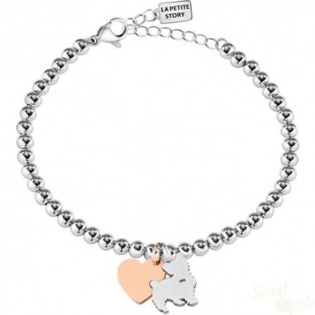 Pulseira La Petite Story Dog and Kitty Furry Dog SRG