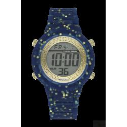 Relógio WatxAndCo Digital Byz Aul e Dourado M