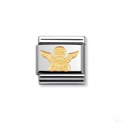 Componível Nomination Link SS e Gold 18K Angel