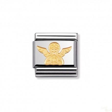 Componível Nomination Link SS e Gold 18K Angel
