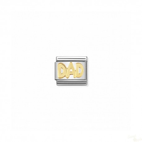 Componível Nomination Link SS e Gold 18K Writings Dad
