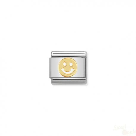 Componível Nomination Link SS e Gold 18K Fun Smile