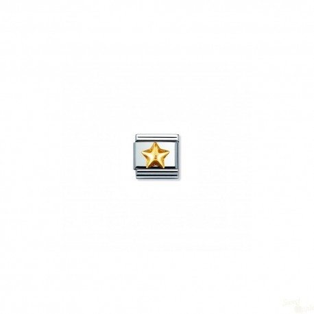 Componível Nomination Link SS e Gold 18K Fun Raised Star