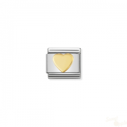 Componível Nomination Link SS e Gold 18K Love Heart
