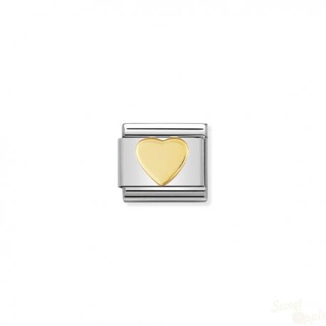 Componível Nomination Link SS e Gold 18K Love Heart