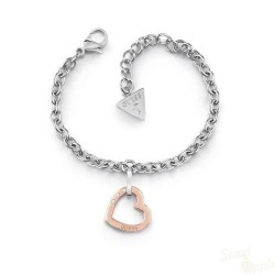 Pulseira Guess Hearted Chain SS