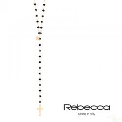 Colar Rebecca Coleção Pepite em Prata 925 G Cruz