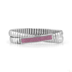 Pulseira Nomination Extension Glitter Dupla Rosa