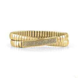 Pulseira Nomination Extension Glitter Dupla Dourado