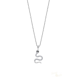 Colar Lotus Silver Fantasy Snake Prata 925