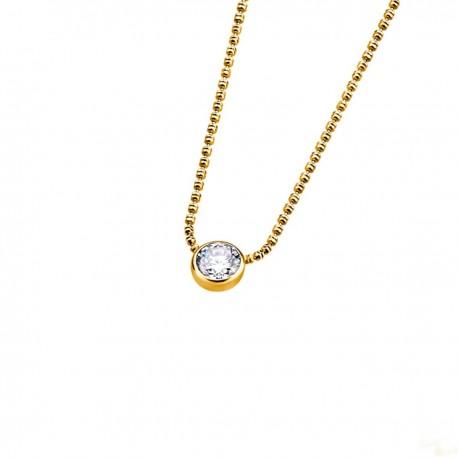 Colar Lotus Silver Brilhante Prata 925 Dourado