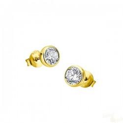 Brincos Lotus Silver Brilhante Prata 925 Dourados