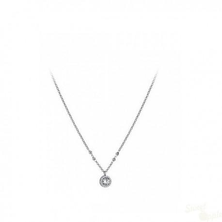 Colar Lotus Silver Crystal R Prata 925