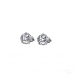 Brincos Lotus Silver Crystal TR Prata 925