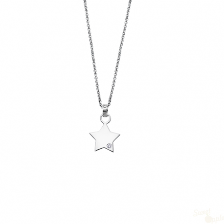 Colar Lotus Silver Mystic Star Prata 925