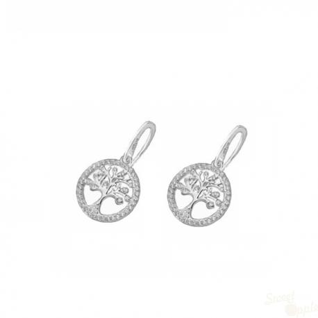 Brincos Lotus Silver Tree Drop Prata 925