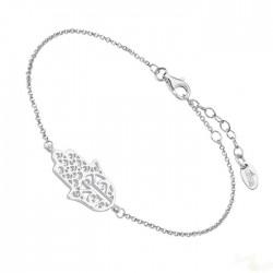 Pulseira Lotus Silver Hamsa Prata 925