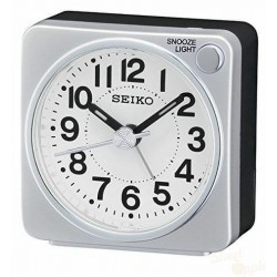 Relógio Despertador Seiko Branco e Preto
