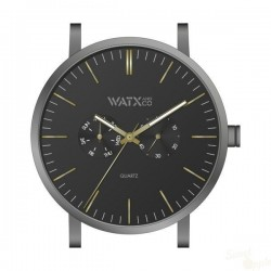 Relógio WatxAndCo 44 Analogic Basic Black Metal Collection