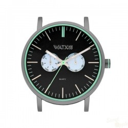 Relógio WatxAndCo 44 Analogic Siren Grey Metal Collection