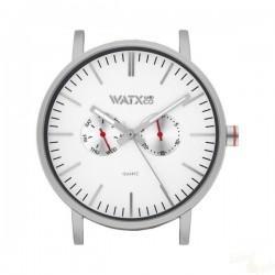 Relógio WatxAndCo 44 Analogic Basic Silver Metal Collection
