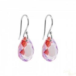 Brincos Marmara Cristal Swarovski LT Rose Shimmer