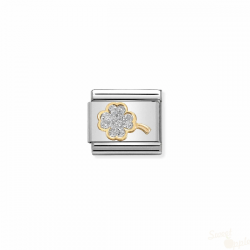 Componível Nomination Clover Link SS Gold 18K Enamel Glitter