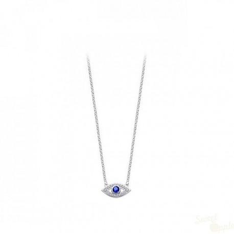 Colar Lotus Silver Mystic Olho Turco Prata 925