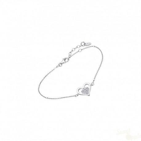 Pulseira Lotus Silver Heart Prata 925
