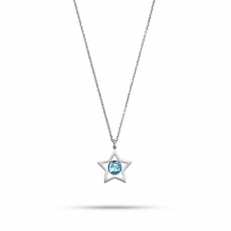Colar Morellato Cosmo C/ Cristal Azul