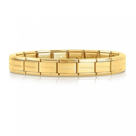 NOMIANTION COMPOSABLE CLASSIC COLOURED BASE BRACELETS (BRANDED-GOLD)