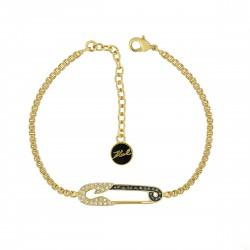 Pulseira Karl Lagerfeld Ikonik Gold Pin Swarovski BL